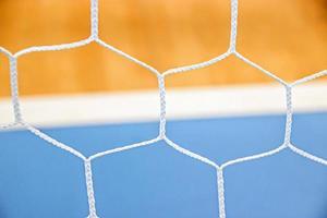 närbild en nettobakgrund för volleybollspelet foto