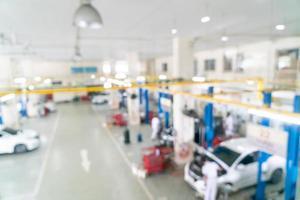 abstrakt oskärpa garaget bil service för bakgrund foto