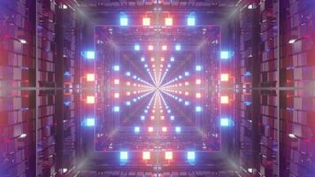 Illustration 3d av 4k uhd futuristisk glödande tunnel foto