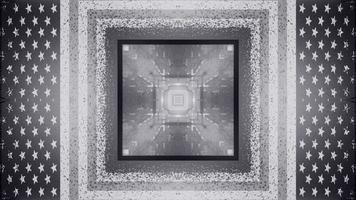 Illustration 3d av uhd-tunneln 4k i form av fyrkanten foto