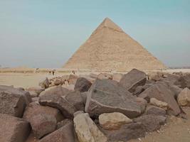 en vy över den stora pyramiden i Giza, Egypten foto