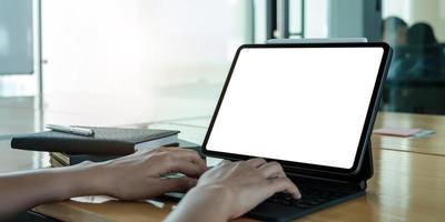 affärskvinna eller revisor som arbetar på kontoret, affärsidé foto