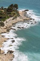 utsikt över den liguriska kusten foto