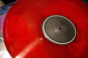 röd vinyl utan logotyper foto