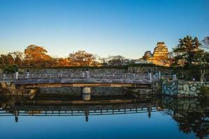 himeji-slott, aka vit ägrettslott eller vit hägreslott i Japan foto