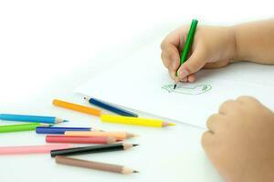 hand barn ritningar foto