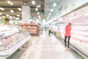 abstrakt suddighet i stormarknad för bakgrund foto