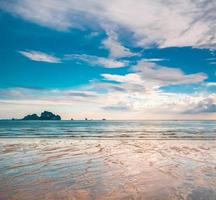 landskap av tropisk ö foto