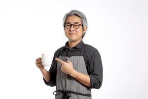 senior asiatisk man foto