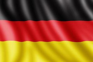 tysk flagga, realistisk illustration foto