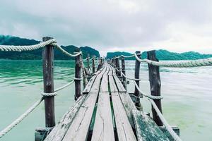 Talet Bay i Khanom, Nakhon Sri Thammarat, Thailand foto
