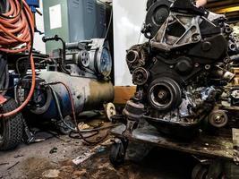 diesel förbränningsmotor foto