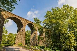 morgonsikt över starrucca-viadukten foto
