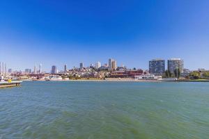 solig utsikt över San Francisco maritima nationalhistoriska parken foto