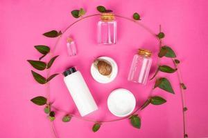 uppsättning naturkosmetika från snigel mucin kit hudvårdsprodukt foto