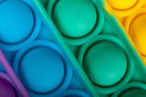färgglada pop it antistress leksak makro närbild foto