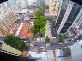 byggnader i centrala Sao Paulo på en regnig dag, Brasilien foto