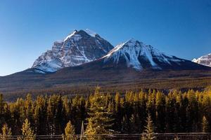 bågeområdet sett från morrantens kurva. Banff National Park, Alberta, Kanada foto