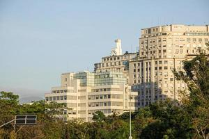 byggnader i mitten av Rio de Janeiro, Brasilien, på morgonen foto