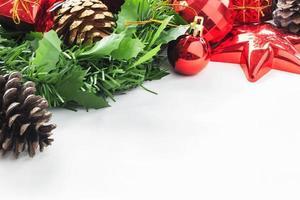 färgglad dekorativ jul foto