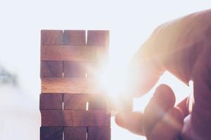 affärsplan, strategi och riskbegrepp foto