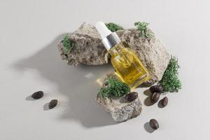 hälsosam behandling av jojobaolja foto
