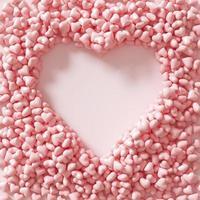 ovanifrån massor av rosa hjärtan foto