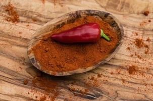 röd chili peppar kryddig grönsak foto