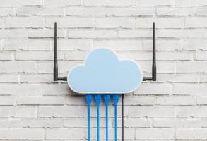 router i cloud computing-koncept foto