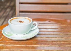 varm mocka i kaféet foto