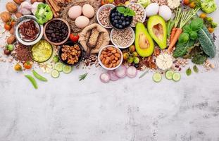 ingredienser för valet av hälsosam mat foto