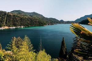 sjön lugano, ticino foto