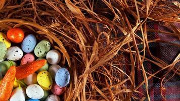 färgglada traditionella påskpåskägg foto