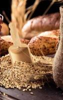 läckra färskt bröd mat koncept foto