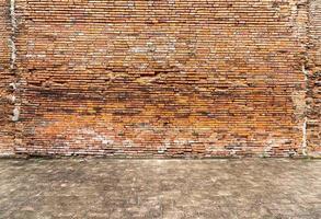 tom tegelvägg konsistens för bakgrund foto