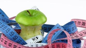 hälsosam frukt äpple och mätning foto