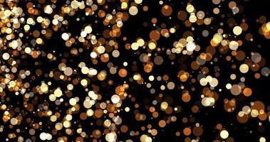 partiklar guld bokeh glitter tilldelar damm abstrakt bakgrund foto