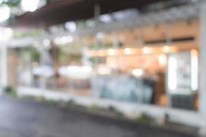 abstrakt suddighet i kafé för bakgrund foto