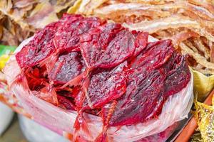 stekt thailändsk skaldjur på koh samui, thailand foto