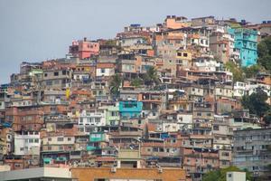 utsikt över vidigal hill i Rio de Janeiro. foto
