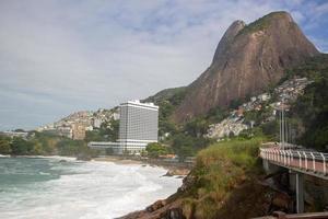 vidigal strand i Rio de Janeiro, Brasilien foto