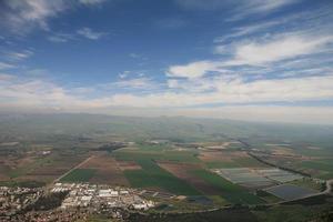 fantastiska landskap av Israel, utsikt över det heliga landet foto