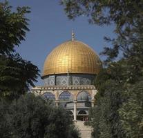tempelmonterade kupolen på berget Jerusalem, Israel foto