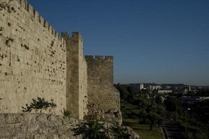murarna i den gamla staden Jerusalem, det heliga landet foto