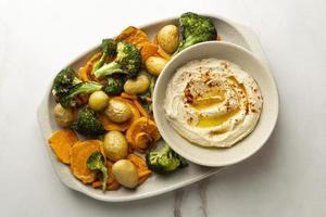 utsökt högprotein vegansk måltid foto