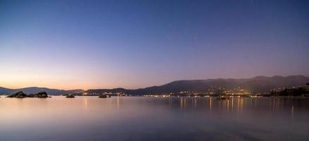 Lake Tahoe solnedgång landskap Nevada sida foto