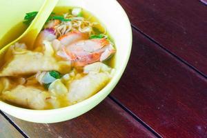 kinesisk mat, wonton för traditionell gourmet dumpling foto