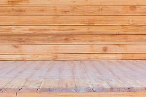 trägolv och vägg som används som bakgrund foto