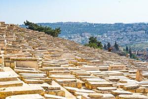 judiska gravar i Jerusalem foto