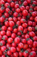 organisk grönsak saftig tomat i livsmedelsbutik foto